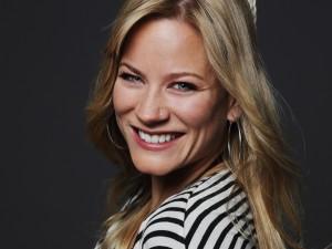 Moderatorin Andrea Jansen